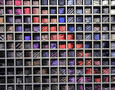 Wybór materiału krawata