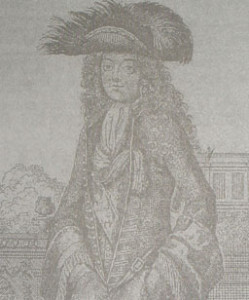 Wilhelm Orański w steinkerku, ok. 1692 r.